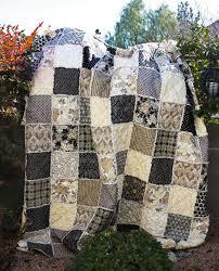 black quilts rag quilt size neutral tones black
