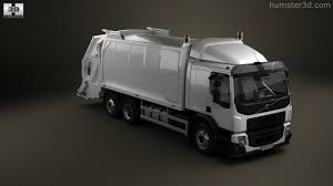 volvo 2013 truck 360 view of volvo fe rolloffcon garbage truck 2013 3d model