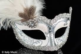 silver mask venetian columbina masquerade mask in silver white with feathers