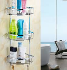wall mounted 304 stainless steel bathroom soap dish triple tier