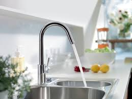 hans grohe kitchen faucets hansgrohe 14872001 chrome talis s pull down single function kitchen