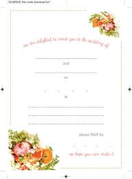 Blank Wedding Invitations Wedding Invitation Templates Free Templates Invitations Templates