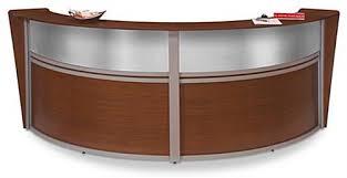 Reception Station Desk Reception Station Unit With Modern Arc Design