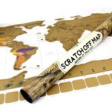 World Scratch Map by Accessorygeeks Com Eutuxia Travel Scratch World Map 34x20 Inch