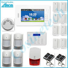 home security 868mhz alarm system with 7 inch touch screen smart