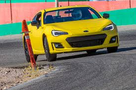 subaru car back track tested subaru brz performance package and fiat 124