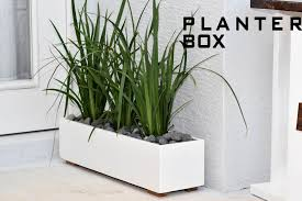Diy Patio Planter Box Ideas Wonderful Modern Planter Box Solid Wood Chippendale