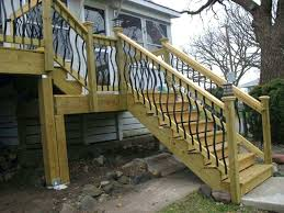 outdoor stair railing simple minimalist wrought iron handrail and