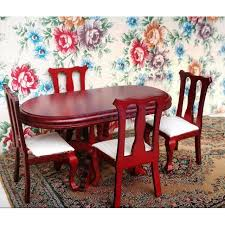 Dollhouse Dining Room Furniture 1 12 Scale Dollhouse Dining Room Furniture Dining Table With 4