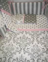 grey and white damask baby bedding jpg