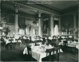 Maine Dining Room Maine Memory Network Dining Room Falmouth Hotel Portland Ca 1900