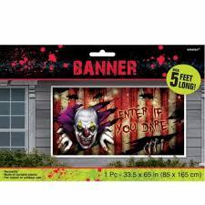 Creepy Carnival Decorations Creepy Carnival Beware Banner Halloween Decoration