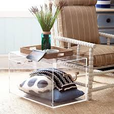 Coffee Tables With Wheels Dining Room Decorations Acrylic Coffee Table On Wheels And White