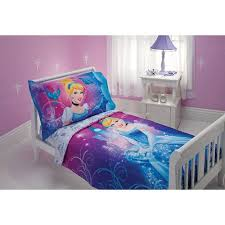 cinderella magic happens 4 piece toddler bedding set walmart com