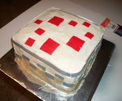 make a minecraft cake 4 steps with pictures
