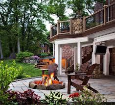 chiminea on wood deck ideas