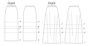 pattern for simple long skirt m6654 misses straight or a line skirts in 7 lengths sewing