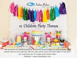 party themes for 10 innovative ideas for children party themes online birthday party