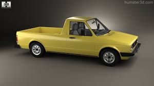 volkswagen caddy pickup 360 view of volkswagen caddy type 14 1982 3d model hum3d store
