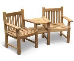 Love Chairs Garden Teak Companion Seat Jack And Jill Seat