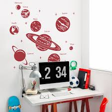 Cool Wall Decals by Diy Solar System Wall Cool Solar System Wall Decals Home Decor Ideas