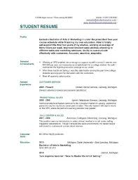 Marketing Intern Resume College Student Resume Format Resume Example Internship Resume