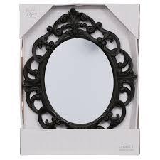 b m small ornate oval mirror 295297 b m