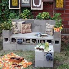 Converting Outdoor Sofa Brick Outdoor Sofa Recycled Objects For Home Pinterest
