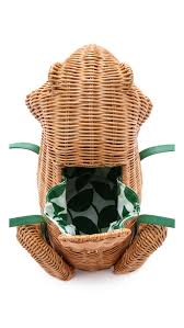 kate spade new york spring forward wicker frog bag shopbop