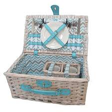 picnic basket for 2 briscoes tablefair willow picnic basket for 2 white