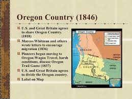 map of oregon country 1846 manifest destiny land territories