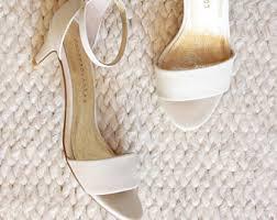 wedding shoes low heel ivory low heel bridal shoe etsy