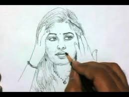 how to draw a beautiful indian yzarts yzarts youtube