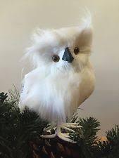 feathered owl ornaments ebay