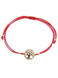 string cord bracelet images Tree of life bracelet sterling silver charm red string amulet yoga jpg