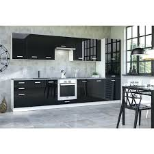 meuble haut cuisine noir laqué meuble de cuisine noir laque alaments haut meuble haut de cuisine