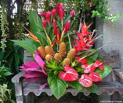 tropical flower arrangements best 25 tropical floral arrangements ideas on