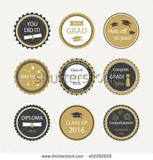 graduation cake toppers set graduation cupcake toppers vector badges stock vector