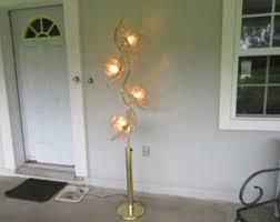 Vintage Retro Floor Lamp Brass Lotus Lamp Etsy
