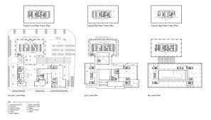 High Rise Floor Plans by Som Ningbo Guohua Financial Tower