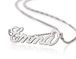 small name necklace small carrie style name necklace in sterling silver