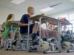 Under The Desk Bicycle Teacher Installs Bike Pedals Underneath Students U0027 Desks Business