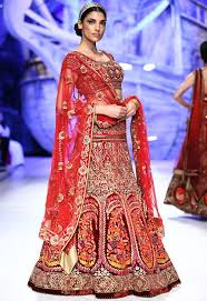 red color bridal trends 2015 of indian wedding dresses