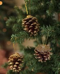 gold glitter pinecone ornaments ornaments