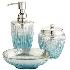 Glass Bathroom Accessories Sets Projects Idea Of Aqua Bathroom Accessories Sets On Bathroom Set