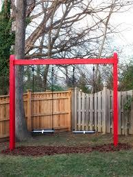 Pergola Swing Set Plans by Plans Basic Swing Set Plans
