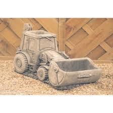 new jcb digger garden ornament planter click collect only