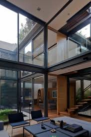 modern glass house floor plans home designs modern design atrium house with 4 courtyards