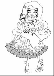 amazing monster high characters coloring pages with monster high
