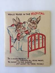 get well soon for children vintage get well soon hospital stay greeting card 1950 children ebay